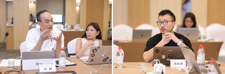 i2mago 原象 CEO 马耀、右:店匠SHOPLAZZA 联合创始人陈志浩